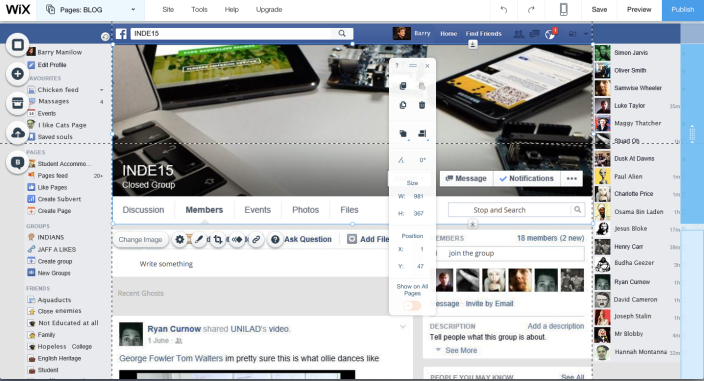 INDE Facebook page fake
