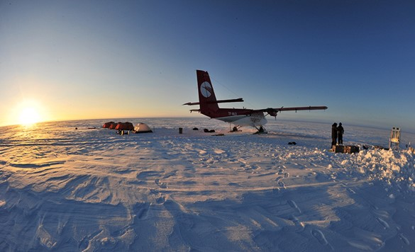 monitoring the ice in Antarctica